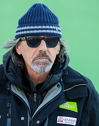 """Valerio Ghirardi, coach of Tina Maze (SLO) during FIS Alpine Ski World Cup 2014/15 5th Ladies' Slalom race named """"Snow Queen Trophy 2015"""", on January 4, 2015 in Course Crveni Spust at Sljeme hill, Zagreb, Croatia.  Photo by Vid Ponikvar / Sportida"""