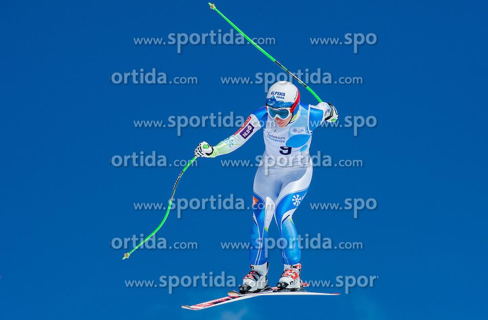 Ilka Stuhec during Super G at Slovenian National Championship in Krvavec, Slovenia, on April 1, 2015. Photo by Marko Mavec / Sportida.com