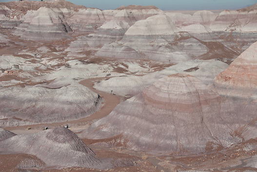 Blue Mesa in the Petrified Forest National Park along I 40 and old Route 66 Arizona,