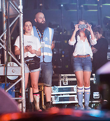 Think that this is is his wife backstage. Stevie McCrorie opens Saturday on the King Tut's Wah Wah Tent, at T in the Park 2015, at Strathallan CastleSaturday, 11th July 2015, day two at T in the Park 2015, at its new home at Strathallan Castle.