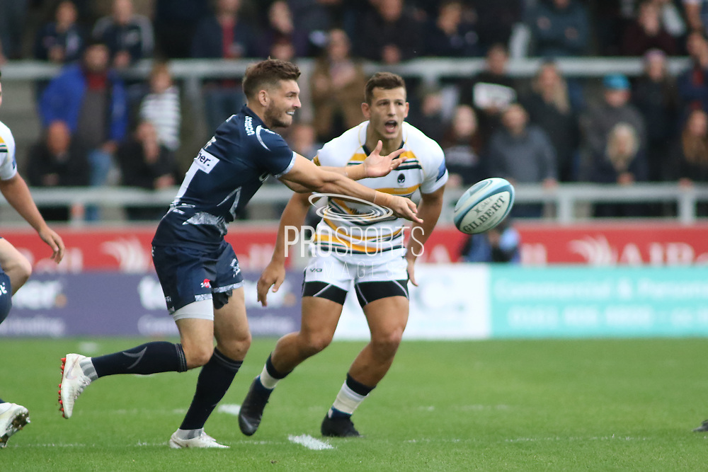 Sale Sharks Will Cliff during the Gallagher Premiership Rugby match between Sale Sharks and Worcester Warriors at the AJ Bell Stadium, Eccles, United Kingdom on 9 September 2018.