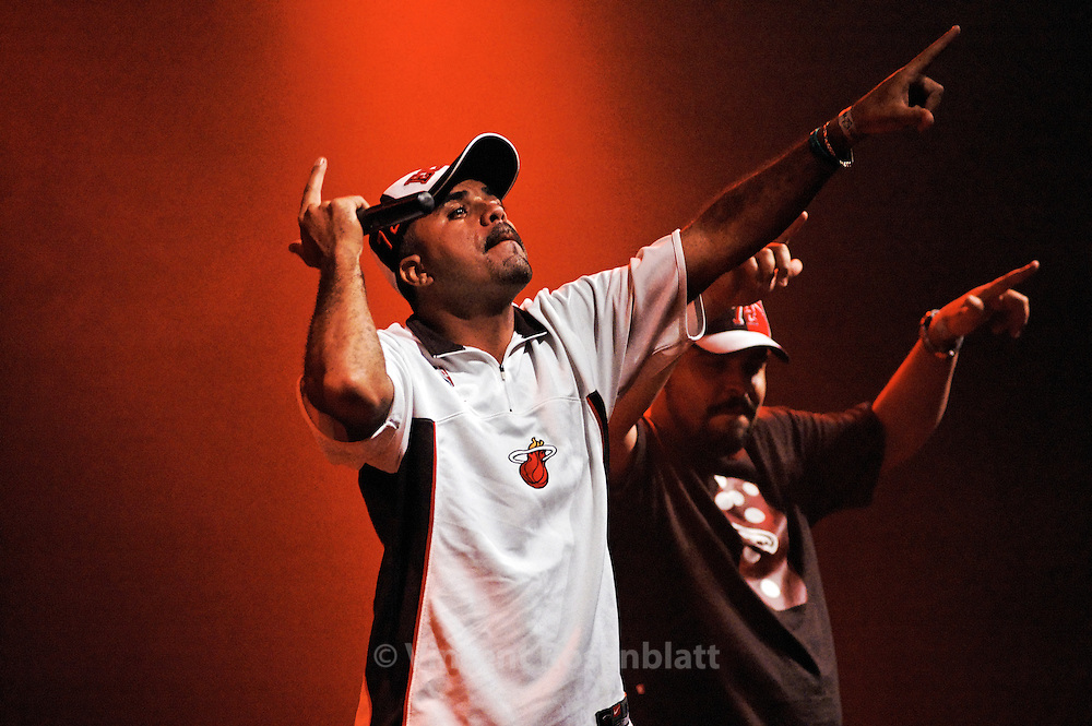 """MC's Junior & Leonardo, a duet of MC's , bailes funk veterans and authors of the national hit """"Rap das Armas"""".  They are the founders of the Apafunk (Professionals and Friends of Funk Association), which fights for the decriminalization and the recognition of the Funk Carioca culture. .."""