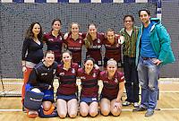 ROTTERDAM -  Finalist Dames 2 van KZ tijdens het Landskampioenschap reserveteam zaal 2013. FOTO KOEN SUYK