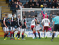 Dundee keeper Scott Bain saved Rangers&rsquo; James Tavernier's free kick - Dundee v Rangers in the Ladbrokes Scottish Premiership at Dens Park, Dundee.Photo: David Young<br /> <br />  - &copy; David Young - www.davidyoungphoto.co.uk - email: davidyoungphoto@gmail.com