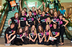 Meadowhall Student Lock In Team celebrate the events success .29th September2011. Image © Paul David Drabble
