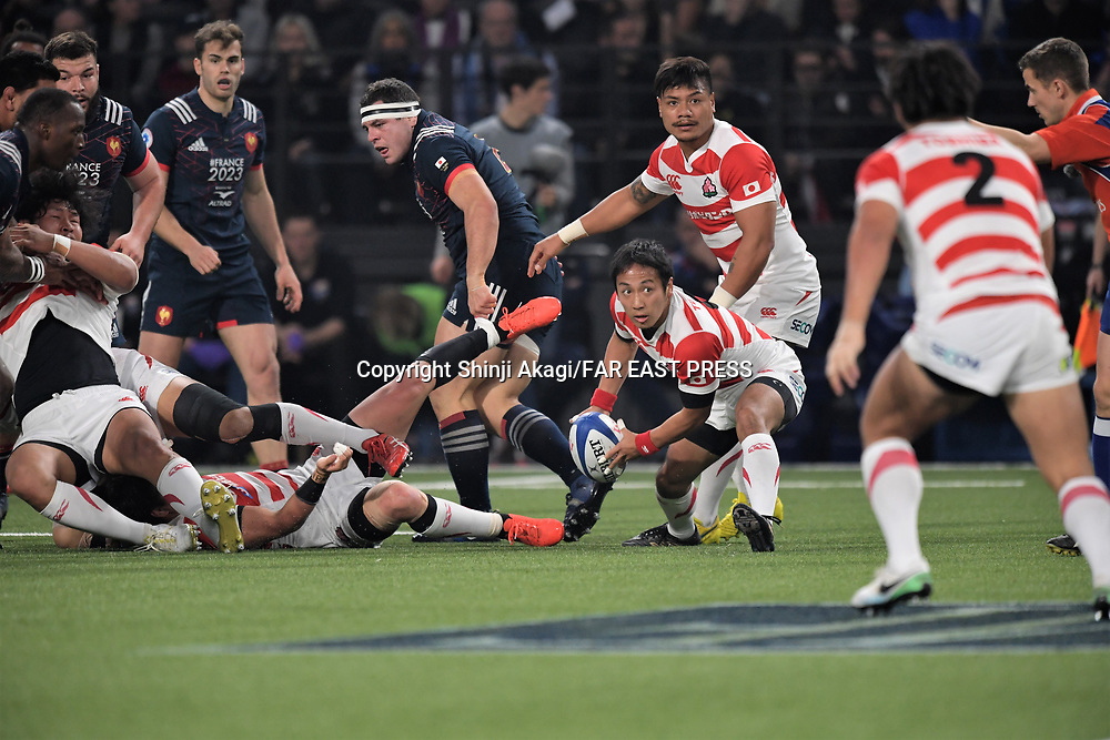 Yutaka Nagare (JPN), NOVEMBER 18, 2017 - Rugby : Rugby test match between France and Japan at the U Arena in Nanterre, France. (Photo by FAR EAST PRESS/AFLO)