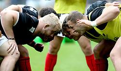 Saracens front row go through their scrum practice - Mandatory by-line: Robbie Stephenson/JMP - 16/04/2017 - RUGBY - StadiumMK - Milton Keynes, England - Northampton Saints v Saracens - Aviva Premiership