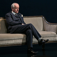 Waste by Harley Granvelle Barker;<br /> Directed by Roger Michell;<br /> Gerrard McArthur as Lord Charles Cantilupe;<br /> Lyttelton Theatre, National Theatre, London, UK;<br /> 9 November 2015