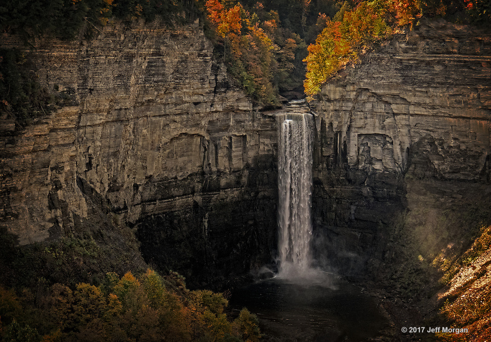 View of Taughannock Falls near Ithaca, NY in Autumn.