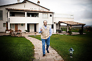 "Montenero di Bisaccia. Antonio Di Pietro, 63 years, leader of party ""Italia dei Valori"" inside of your villa in Montenero di Bisaccia;"