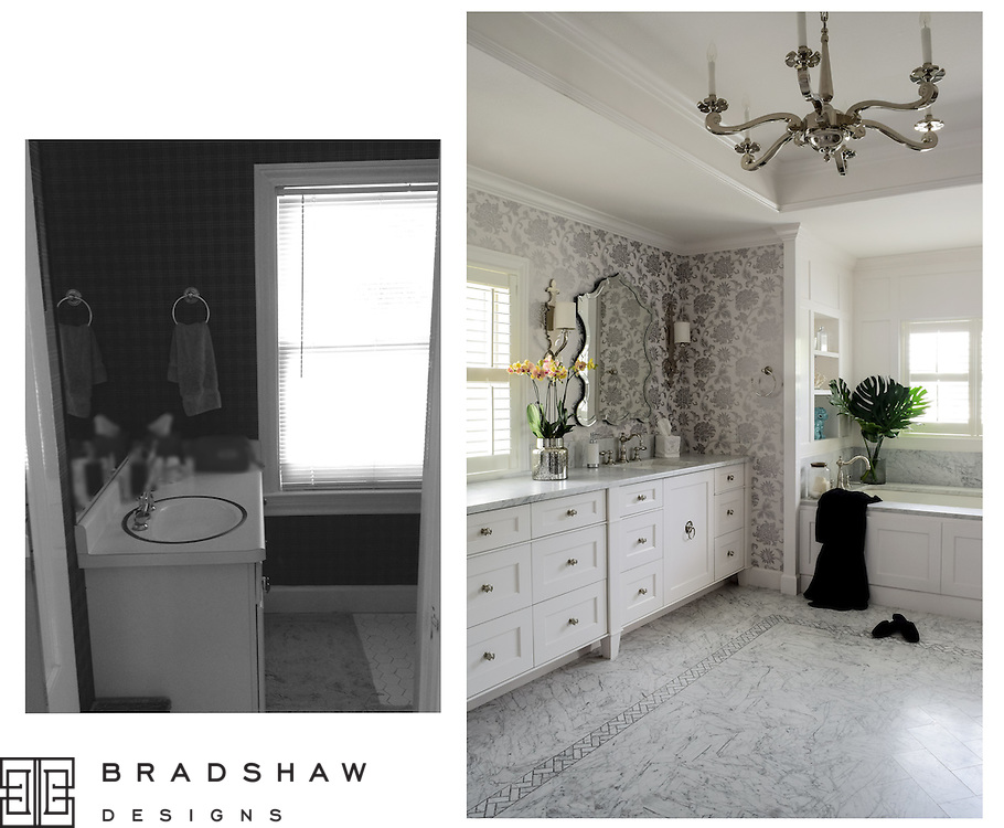 Award-winning bath design in Terrell Hills neighborhood San Antonio by Bradshaw Designs! 1st Place Bath Design.