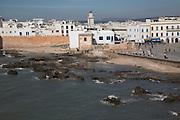 Town walls, ramparts, medina and Atlantic ocean, Essaouira, Morocco
