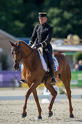 Dhennin Didier (FRA) - Opi de Saint Leo<br /> Dressage<br /> CCI4*  Luhmuhlen 2014 <br /> © Hippo Foto - Jon Stroud