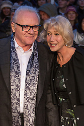 © licensed to London News Pictures. London, UK 08/12/2012. Sir Anthony Hopkins and Helen Mirren attending Hitchcock UK Premiere at BFI Southbank in London. Photo credit: Tolga Akmen/LNP