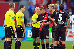 23.10.2011,  BayArena, Leverkusen, GER, 1.FBL, Bayer 04 Leverkusen vs Schalke 04, im Bild.Leverkusener entaeuscht / entäuscht / traurig bei Schiedsrichter Zwayer..// during the 1.FBL, Bayer Leverkusen vs Schalke 04 on 2011/10/23, BayArena, Leverkusen, Germany. EXPA Pictures © 2011, PhotoCredit: EXPA/ nph/  Mueller       ****** out of GER / CRO  / BEL ******