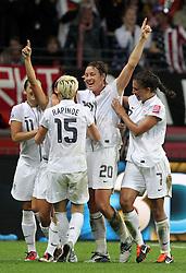 17-07-2011 VOETBAL: FIFA WOMENS WORLDCUP 2011 FINAL JAPAN - USA: FRANKFURT<br /> Torjubel USA nach dem 0:1 durch Alex Morgan , hier Alex Krieger , Megan Rapinoe , Abby Wambach , Shannon Boxx <br /> ***NETHERLANDS ONLY***<br /> ©2011-FRH- NPH/Hessland