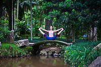 Regina Carvalho at Jardin Botanico, Rio do Janeiro