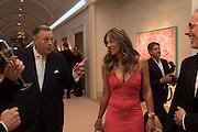 DAVID KER; ELIZABETH HURLEY, The Neo Romantic Art Gala in aid of the NSPCC. Masterpiece. Chelsea. London.  30 June 2015