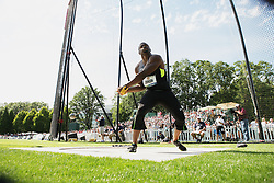 Olympic Trials - Hammer Throw, men Hammer throw at Nike Campus, Beaverton, Kibwe Johnson, winner, makes USA Olympic team