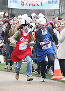 MP'S AND LORDS TAKE PART IN THE ANNUAL 'REHAB' SHROVE TUESDAY PANCAKE RACE AT VICTORIA PARK WESTMINSTER