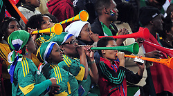 Controcersial Vuvuzelas in action  during the soccer match of the 2009 Confederations Cup between Spain and South Africa played at the Freestate Stadium,Bloemfontein,South Africa on 20 June 2009.  Photo: Gerhard Steenkamp/Superimage Media.