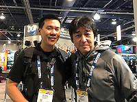 Eric Cheng and Kenji Ohmura (Fisheye)(DEMA 2016, Las Vegas)
