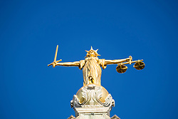 Statue of Lady Justice on the Old Bailey central criminal courts in London United Kingdom