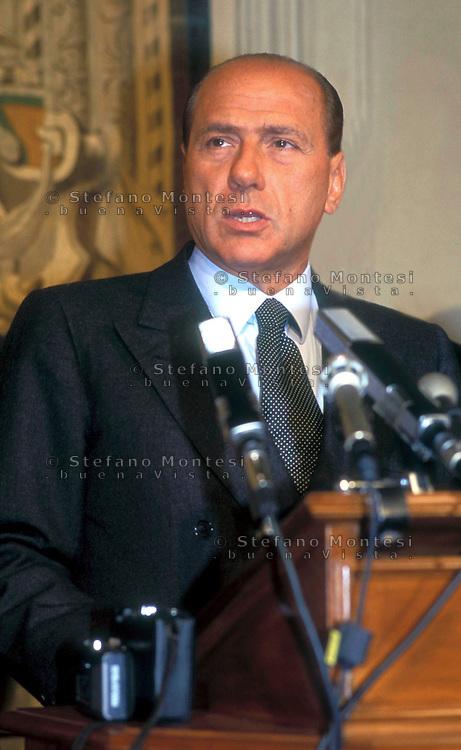 Roma Quirinale 1994.Silvio Berlusconi durante le consultazioni per il governo