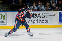 KELOWNA, CANADA - DECEMBER 27: Garrett Pilon #41 of the Kamloops Blazers takes a shot on net during first period against the Kelowna Rockets on December 27, 2016 at Prospera Place in Kelowna, British Columbia, Canada.  (Photo by Marissa Baecker/Shoot the Breeze)  *** Local Caption *** Garrett Pilon;