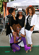 Norma Jean Wright, Luci Martin, Alfa Anderson and Lynna Movingstar pose as SummerStage presents Club Classics Live at Rumsey Playfield in Central Park in New York City, New York on June 28, 2014.