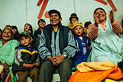 Caption: Every Sunday the audience applauds and supports its favorite wrestlers in the wrestling show in a Community Center in El Alto, El Alto, Bolivia, February 26, 2012.<br /> SPANISH: El publico aplaude y apoya a sus luchadores favoritos en el espectaculo de lucha libre que se lleva a cabo cada domingo en el Multifuncional El Alto, en El Alto, Bolivia, el 26 de Febrero de 2012.