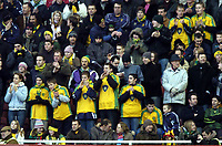 Fotball<br /> Premier League 2004/05<br /> Middlesbrough v Norwich<br /> 28. desember 2004<br /> Foto: Digitalsport<br /> NORWAY ONLY<br /> Norwich fans try to cheer their team on
