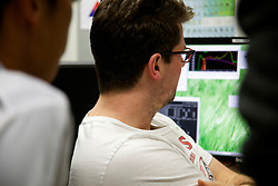 A user in at the - X-ray fluorescence microscopy beamline at the Australian Synchrotron.