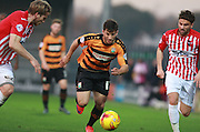 Barnet midfielder Luke Gambin surges forward during the Sky Bet League 2 match between Barnet and Exeter City at The Hive Stadium, London, England on 31 October 2015. Photo by Bennett Dean.