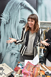 ANNIE MORRIS at #SheInspiresMe Car Boot Sale in Aid of Women for Women International held at the Brewer Street Carpark, Soho, London on 23rd April 2016.