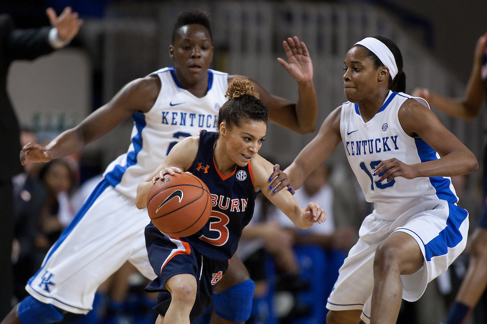 The University of Kentucky Women hosted Auburn University, Sunday, Jan. 20, 2013 at Memorial Coliseum in Lexington. Photo by Jonathan Palmer