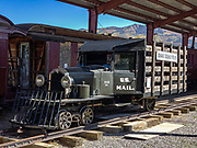 """The 1931 RGS Motor 1 (replica shown here built in 2000) was the precursor of the popular Galloping Goose, a gasoline-engine railbus. The RGS Motor 1 carried US Mail, express freight, and passengers from 1931-1933 for the Rio Grande Southern (RGS) Railroad, a narrow gauge (3 ft wide) which ran from Durango to Ridgway (until 1953). In October 1933, its great success caused the original RGS Motor 1 to be scrapped for parts and converted to enlarged versions, seven of which would become the """"Galloping Geese"""" railcars which officially operated under that name in 1950-1951. We visited the Ridgway Railway Museum while bicycling along the Uncompahgre Riverway Trail (Rails to Trails), in Ridgway, Colorado, USA."""