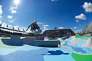 Andy MacDonald during Skate Park Practice at the 2013 X Games Foz do Iguacu in Foz do Iguaçu, Brazil. ©Brett Wilhelm/ESPN