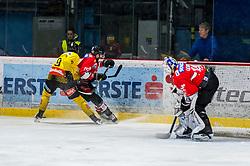19.03.2019, Ice Rink, Znojmo, CZE, EBEL, HC Orli Znojmo vs Vienna Capitals, Viertelfinale, 4. Spiel, im Bild v.l. Ali Wukovits (Vienna Capitals) Jakub Stehlik (HC Orli Znojmo) Teemu Tapio Lassila (HC Orli Znojmo) // during the Erste Bank Icehockey 4nd quarterfinal match between HC Orli Znojmo and Vienna Capitals at the Ice Rink in Znojmo, Czechia on 2019/03/19. EXPA Pictures © 2019, PhotoCredit: EXPA/ Rostislav Pfeffer
