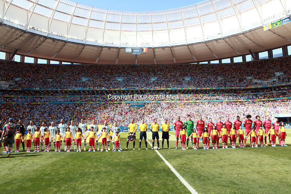 Fifa Soccer World Cup - Brazil 2014 - <br /> ARGENTINA (ARG) Vs. BELGIUM (BEL) - Quarter-finals - Estadio Nacional Brasilia -- Brazil (BRA) - 05 July 2014 <br /> Here Argentine team and Belgium team.<br /> &copy; PikoPress