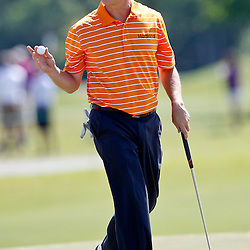 Apr 26, 2012; Avondale, LA, USA; David Toms on the 9th hole during the first round of the Zurich Classic of New Orleans at TPC Louisiana. Mandatory Credit: Derick E. Hingle-US PRESSWIRE