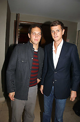 Left to right, LORD FREDDIE WINDSOR and the HON.ALEXANDER SPENCER-CHURCHILL at Stelle d'Italia - a celebration of Italian design, fashion and style at The Roof Gardens, 99 Kensington High Street, London on 22nd September 2006.<br /><br />NON EXCLUSIVE - WORLD RIGHTS