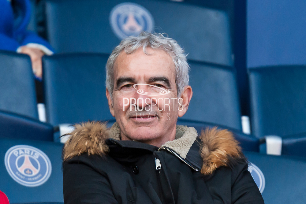 Raymond Domenech former coach of french football team during the French Championship Ligue 1 football match between Paris Saint-Germain and SCO Angers on march 14, 2018 at Parc des Princes stadium in Paris, France - Photo Pierre Charlier / ProSportsImages / DPPI