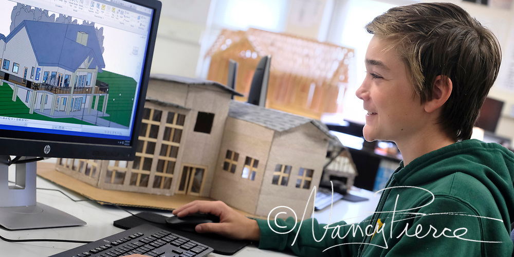 Independence high School -- This is a drafting class but it illustrates architecture & 3D prototyping