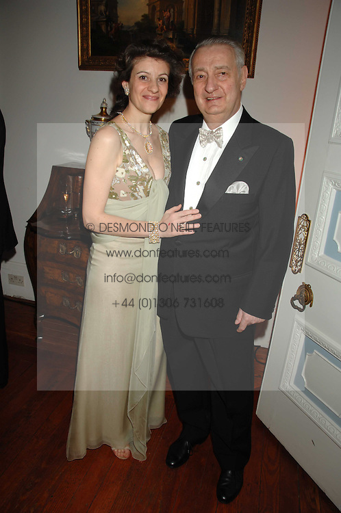 MR &amp; MRS GIANMARIA BUCCELLATI at a dinner hosted by the Italian Ambassador for the Buccellati family held at the Italian Embassy, Grosvenor Square, London on 28th March 2007.<br /><br />NON EXCLUSIVE - WORLD RIGHTS