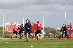 Siem de Jong of Ajax (C) during a training session of Ajax Amsterdam at the Cascada Resort on January 10, 2018 in Lagos, Portugal