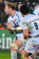 Rugby Union - 2019 / 2020 European Rugby Heineken Champions Cup - Pool Four: Ospreys vs. Racing 92<br /> <br /> Antonie Claassen of Racing attacks, at the Liberty Stadium.<br /> <br /> COLORSPORT/WINSTON BYNORTH