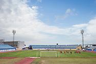 GRAN CANARIA, Maspalomas,  Spanje, voetbal, seizoen 2014-2015, 9-1-2015, winterstop in Nederland, training PSV,  Estadio Municipal, overzicht stadion.