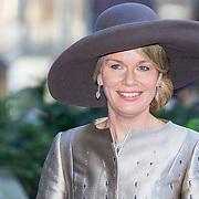 NLD/Amsterdam/20161128 - Belgisch Koningspaar start staatsbezoek aan Nederland, Koningin Mathilde