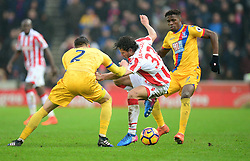 Ramadan Sobhi of Stoke City flicks inside of Joel Ward of Crystal Palace - Mandatory by-line: Alex James/JMP - 11/02/2017 - FOOTBALL - Bet365 Stadium - Stoke-on-Trent, England - Stoke City v Crystal Palace - Premier League